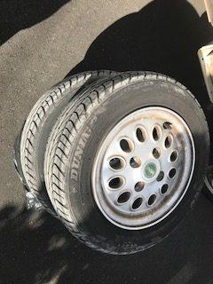 ダンロップ 2005年式 mini アルミタイヤ4本 12インチ 145170R12 を回収しました 守口市 東光町ゴミ屋敷遺品整理不用品回収簡単な引越し は関エコへ