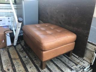 皮の椅子を回収しました 大阪府 豊中市 庄内西町ゴミ屋敷遺品整理不用品回収簡単な引越し は関エコへ