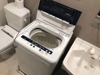 洗濯機 4.5kg 2012年 を回収しました 大阪府 豊中市 豊中町東ゴミ屋敷遺品整理不用品回収簡単な引越し は関エコへ