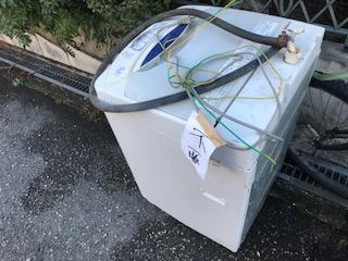 洗濯機 5.5kg 家庭用 を回収しました 大阪府 大阪市 北区ゴミ屋敷遺品整理不用品回収簡単な引越し は関エコへ